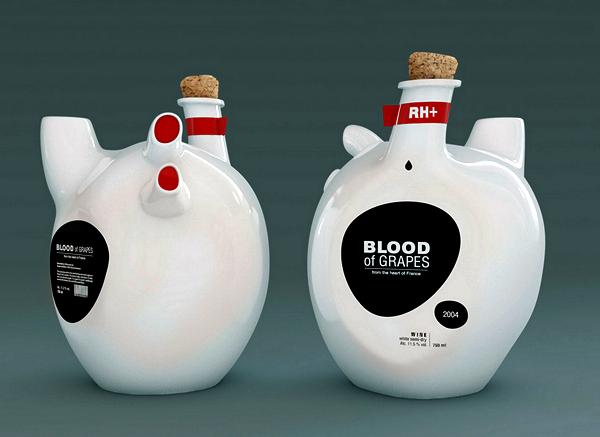 Blood of Grapes: необычная бутылка для крови винограда