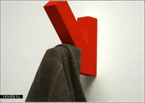 Обзор дизайнерских крючков для одежды