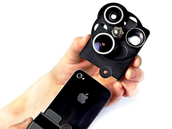 Чехол для iPhone от компании Photojojo. Lens Dial Case с набором линз для творческой фотосъемки