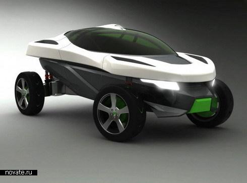 """Концептуальный автомобиль """"beON"""" от Европейского института дизайна в Турине"""
