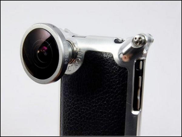 Чехол для iPhone с насадкой fisheye для встроенной камеры