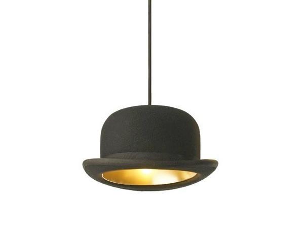 Jeeves and Wooster, светильники из настоящих котелков и шляп
