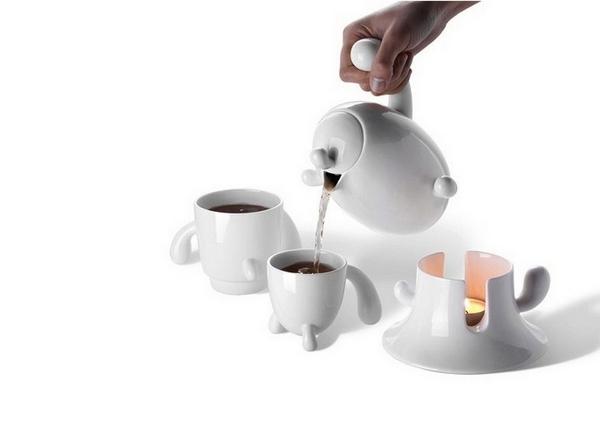 Kaktus tea set. *Колючий* набор посуды для чаепития