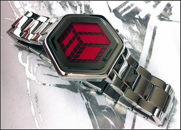 Kisai 3D watch. Трехмерное время стильных часов: 9-01