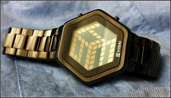 Kisai 3D watch. Трехмерное время стильных часов