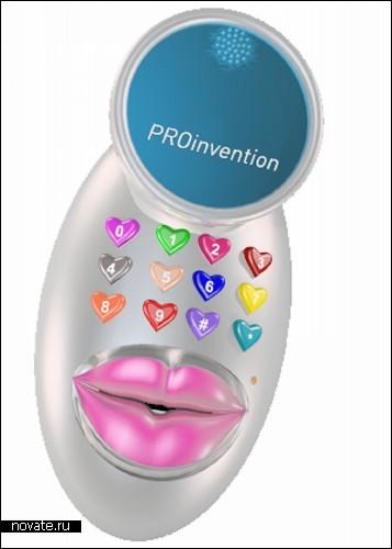 KissPhone, способный имитировать поцелуй