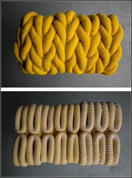 Теплые вязаные табуретки Knitted Stools