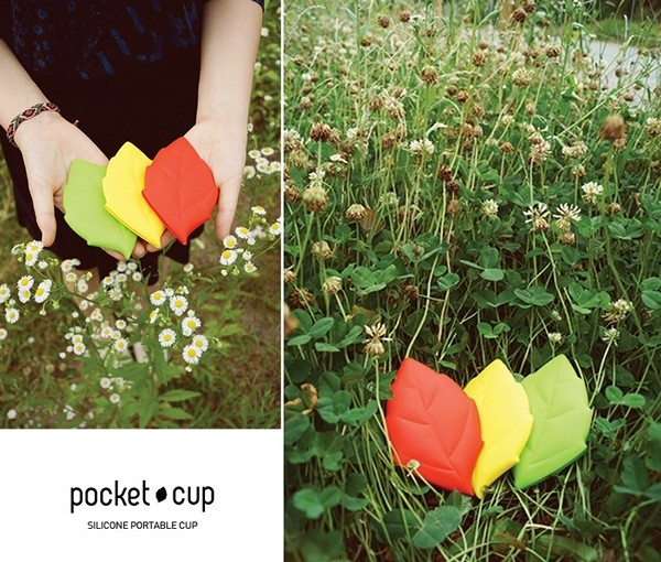 Leaf styled pocket cup: карманная чашка в виде осеннего листа