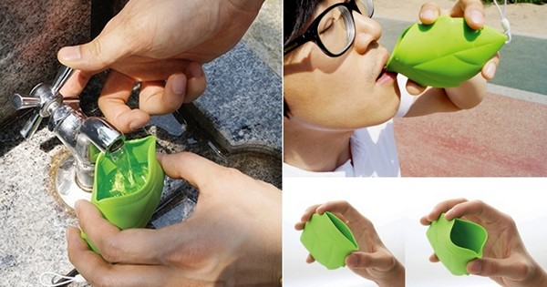 Leaf styled pocket cup: карманная чашка в виде осеннего листа