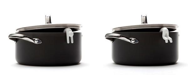Приспособление для кухни, силиконовый человечек Lid Sid от дизайнера Luka Or