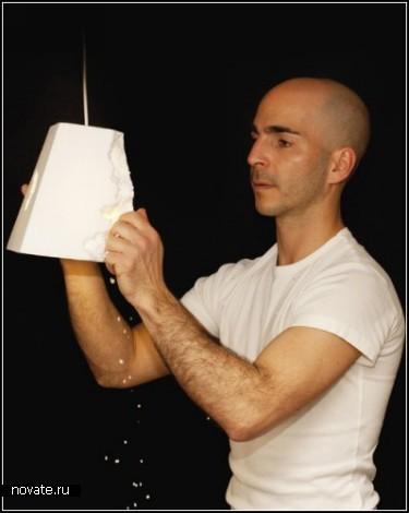 Абажур методом художественного ковыряния. Проект Lior N°2