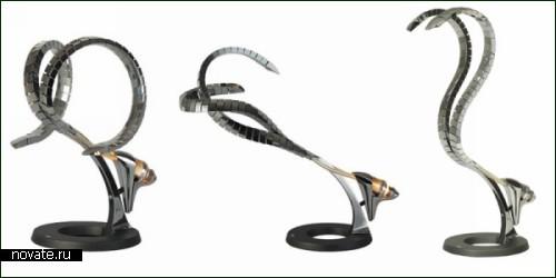 Лампа в виде двухголовой кобры