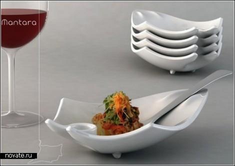 Необычные тарелки, предназначенные для фуршетов и коктейль-party.