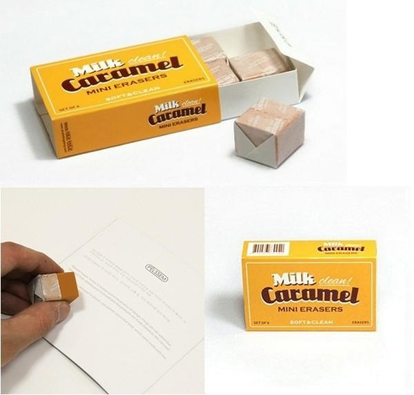 Аппетитный ластик в виде молочной карамельки. Milk caramel eraser от ConnectDesign