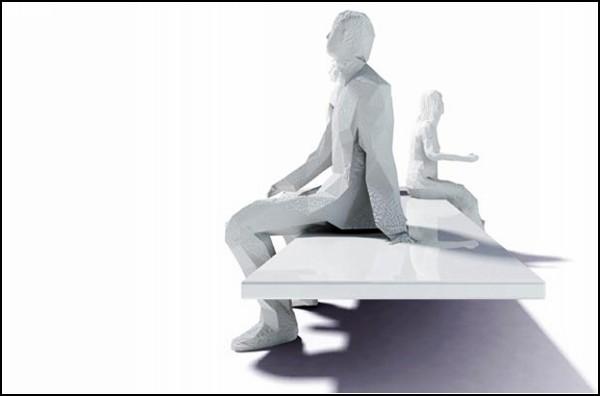 Не то скульптура, не то скамейка