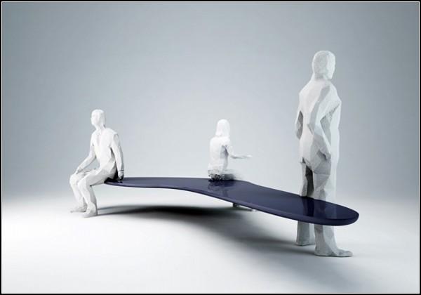 Скамейка Mimic Bench от студии h220430