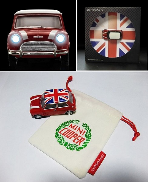 Mini Cooper, флешка в виде культового авто
