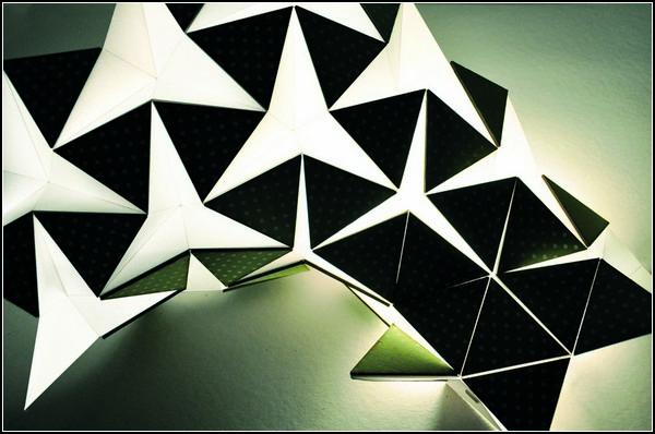 Miyo Lamp от Silke Steinberg, декоративный светильник-оригами