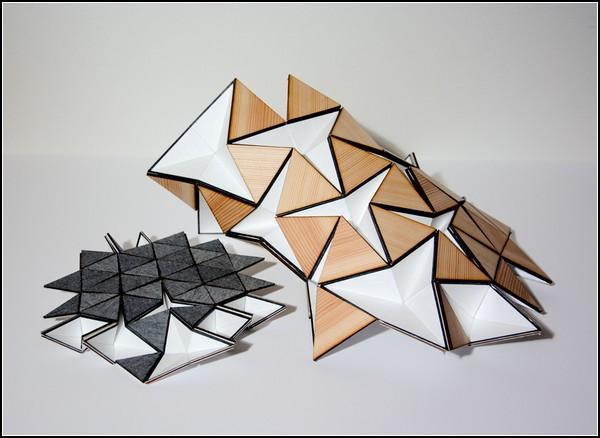 Оригами-лампа Miyo Lamp доступна в двух размерах и разных цветах