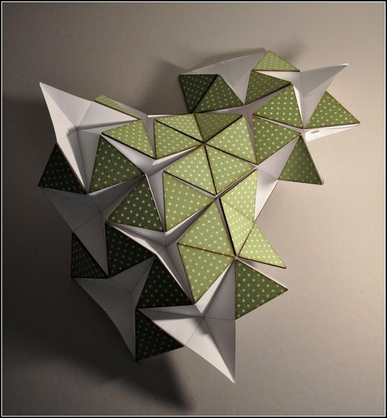 Оригами-лампа Miyo Lamp из светодиодной *бумаги*