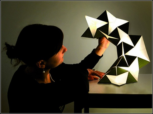 Оригами-лампа Miyo Lamp от Silke Steinberg