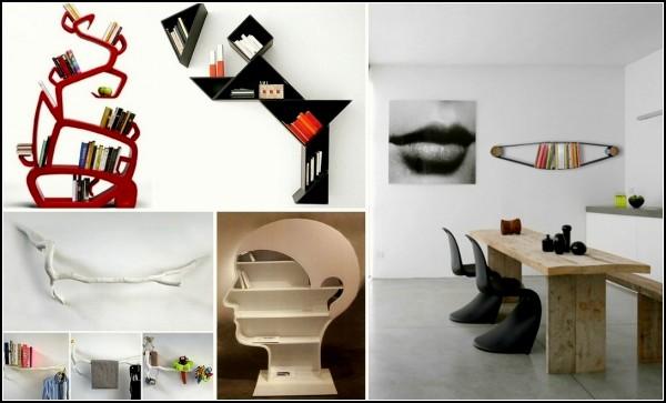 Обзор дизайнерских шкафов и полок для книг