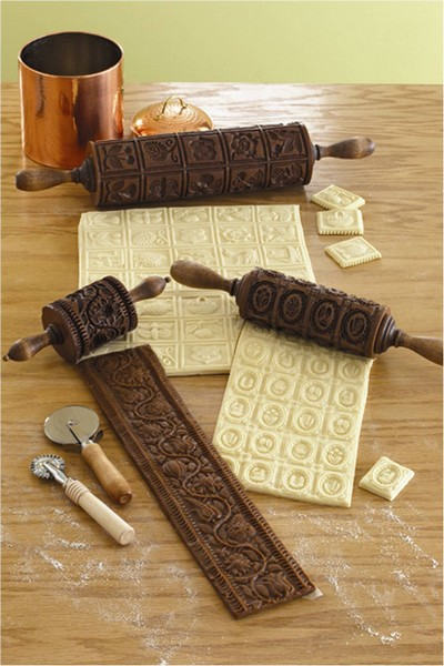 Креативные фигурные скалки для украшения выпечки
