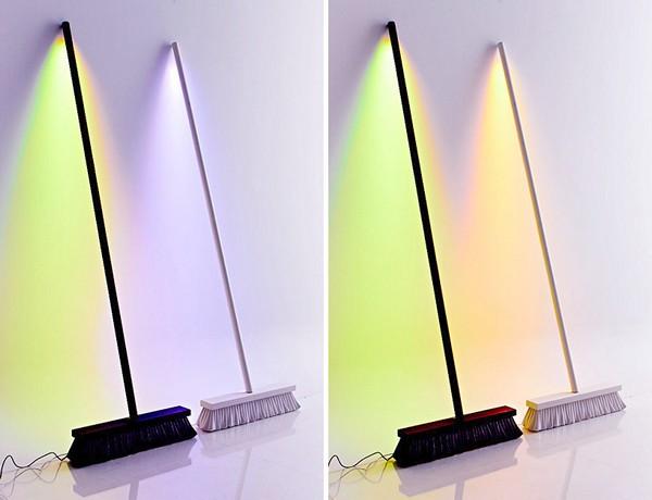 Moodbroom Lamp, светодиодная лампа в виде метлы
