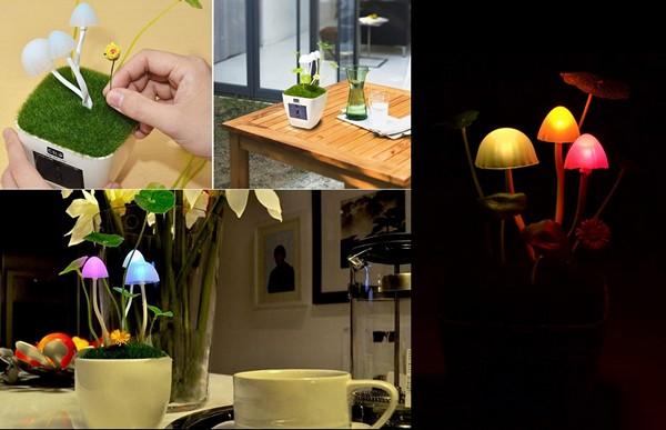 Неоновый ночник Kinoko Mushroom Lamp с USB-подключением