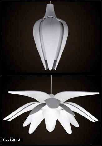 Обзор светильников, созданных дизайнерами, любителями природы