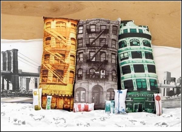 Подушки New York Buildings в нью-йоркском стиле