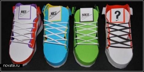 Креативные кроссовки Nike из цветной бумаги