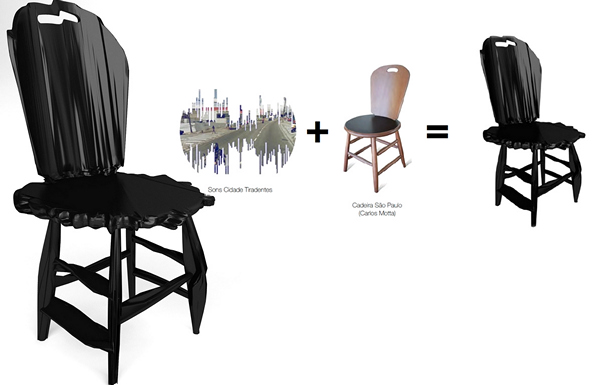 <br>*Шумные* стулья Noize chairs от Estudio Guto Requena