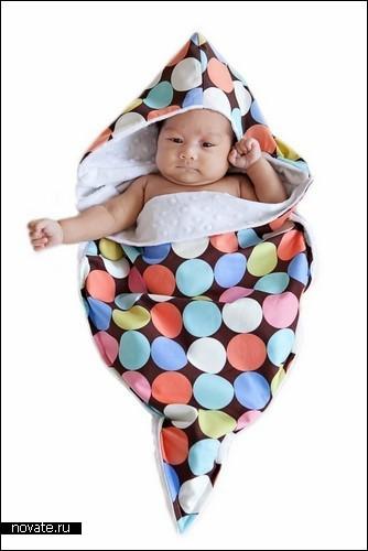 Креативные пеленки Noonie для новорожденных человечков