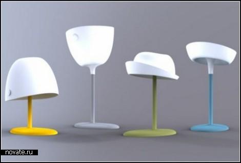 Лампа-модница в силиконовой *панамке* со светодиодами