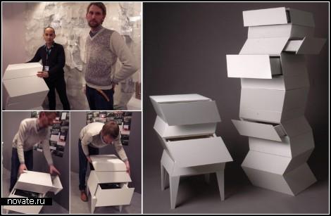 Oblique storage system. Модульная мебель-кубики
