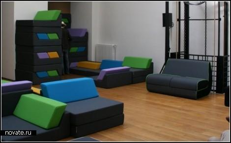 Мягкая модульная мебель Motion от Ora Ito
