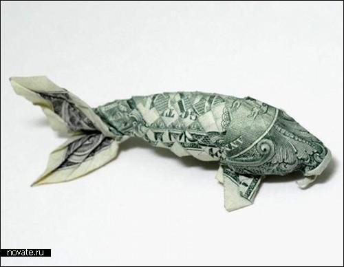 Оригами из долларовых купюр