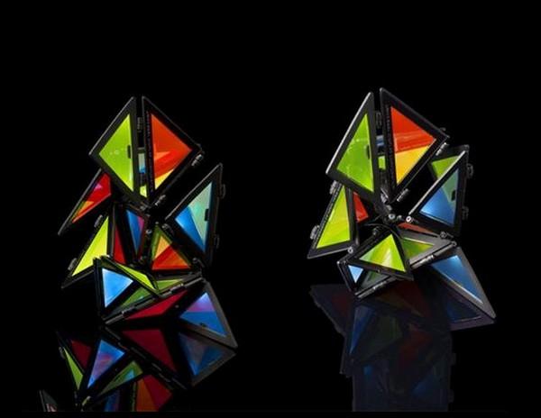 Разноцветный ночник-оригами