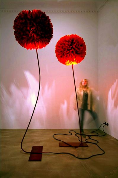 Светильник из ростовых цветов своими руками