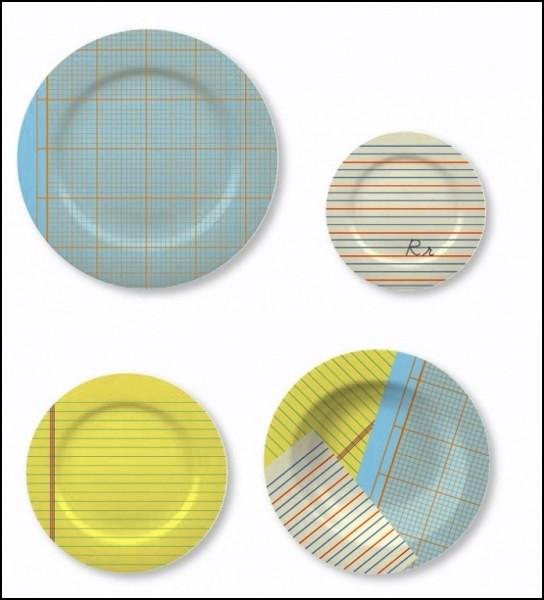 Посуда, словно сделанная из тетрадей