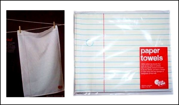 Не-бумажное полотенце, которое кажется бумажным
