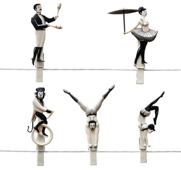 Серия цирковых прищепок Pegzini Family от дизайнера Oded Friedland