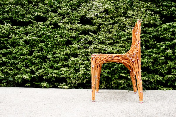 Dinsor pencil chair, офисный стул из коробки карандашей