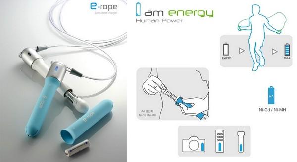 Концептуальная зарядка для батареек E-Rope