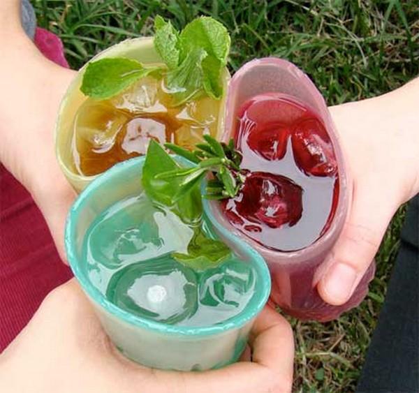 Jelloware, съедобные мармеладные стаканчики для пикника