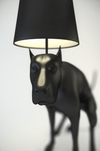 Эпатажные светильники в виде какающих собак от Whatshisname