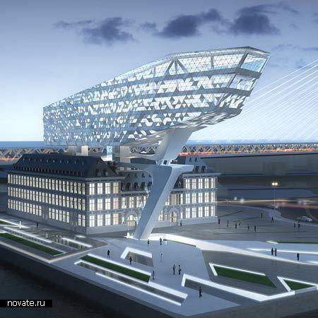 Будущий Порт-хаус в Антверпене от Zaha Hadid Architects