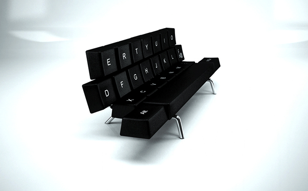 QWERTY Keyboard Sofa Bed, диван-клавиатура от ZO_loft