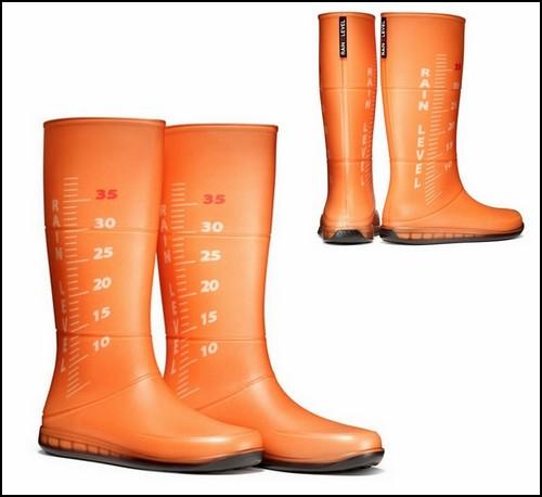 Сапоги Rain Level для измерения глубины луж
